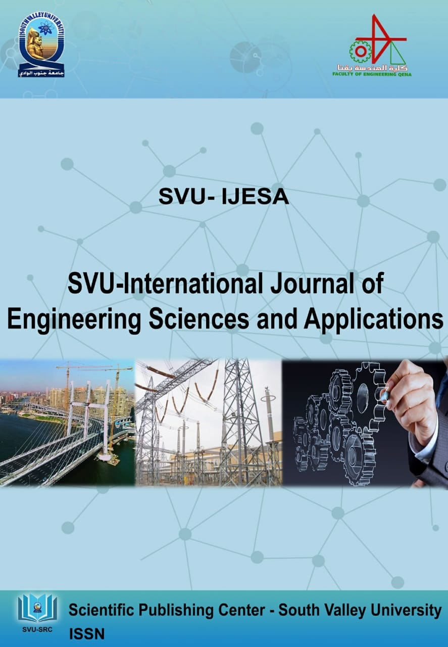 SVU-International Journal of Engineering Sciences and Applications